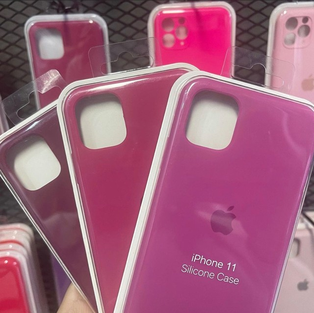Capinha de silicone para iPhone