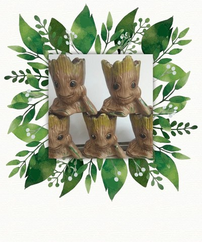 Vasinho decorado tema:Groot + brinde!! - Foto 2