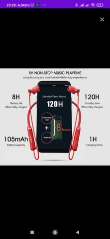 Fone de ouvido Bluetooth sem fio Lenovo HE05 - Foto 4
