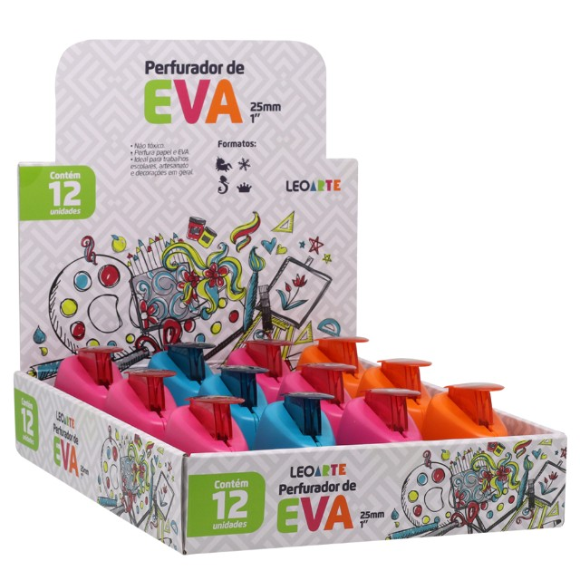 Perfurador de Eva 25 mm individual Leo Arte - Foto 2
