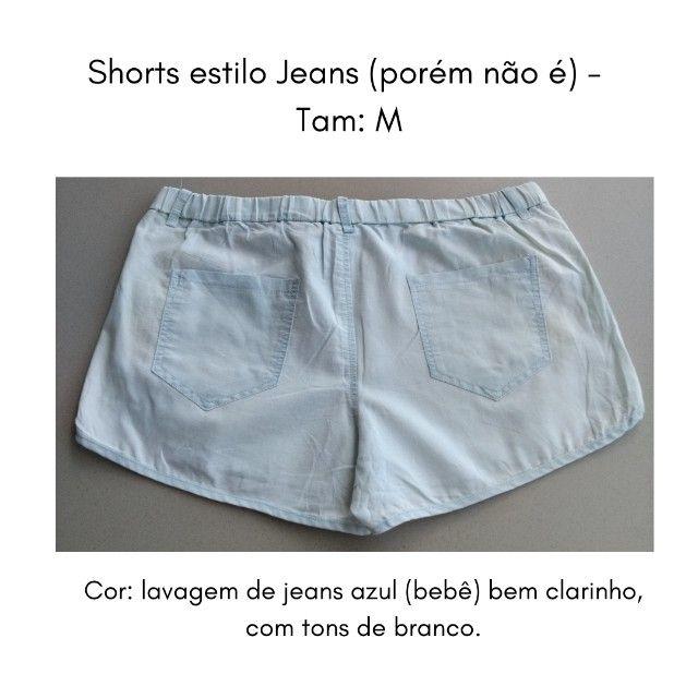 Short (imita jeans) M - Foto 3