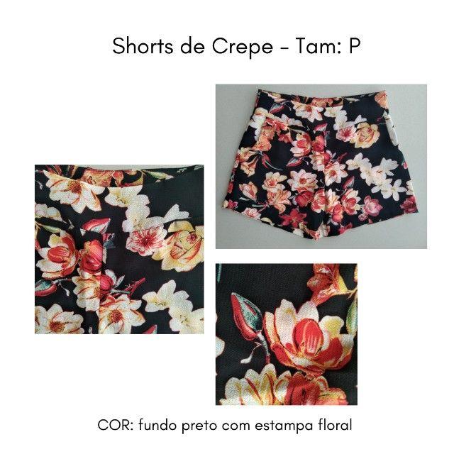 Shorts (Crepe) Estampado - P - Foto 4