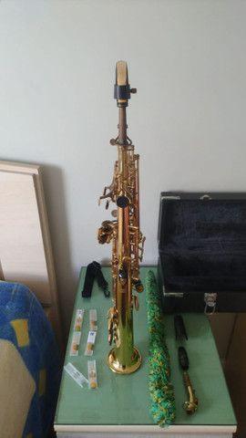 Sax Soprano Reto Eagle Super leve de tocar, excelente instrumento SP502 - Foto 2