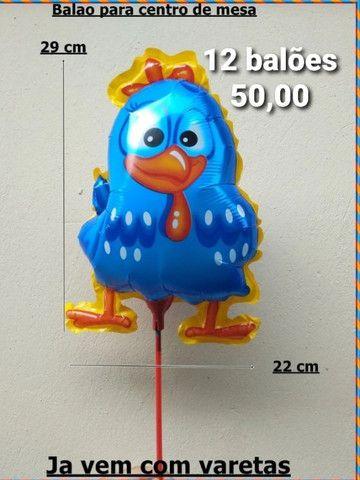 Balões Metalizados + Palitos - Foto 6