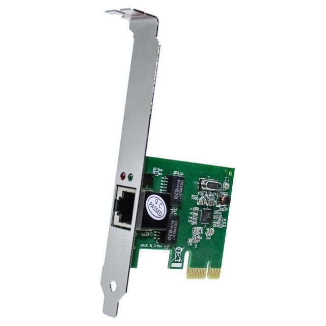 Placa De Rede 10/100/1000Mbps / PCI Express / Gigabit - Novo - Foto 4