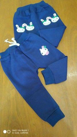Calça de moletom infantil feminina - Foto 2