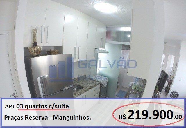 Apartamento 03 quartos na Praia da Baleia, Manguinhos, Praças Reserva, Serra-ES