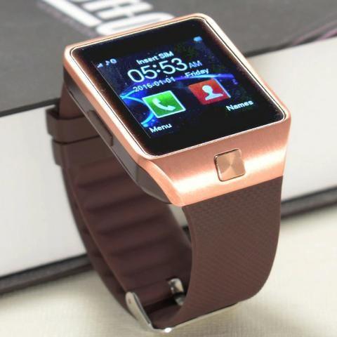 d60f9f27adc Relogio Smartwatch Dz09 Touch Bluetooth Dourado - Bijouterias ...