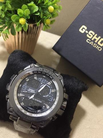 Relógio g shock g-steel