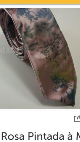 Gravatas pintadas a mao - Foto 2