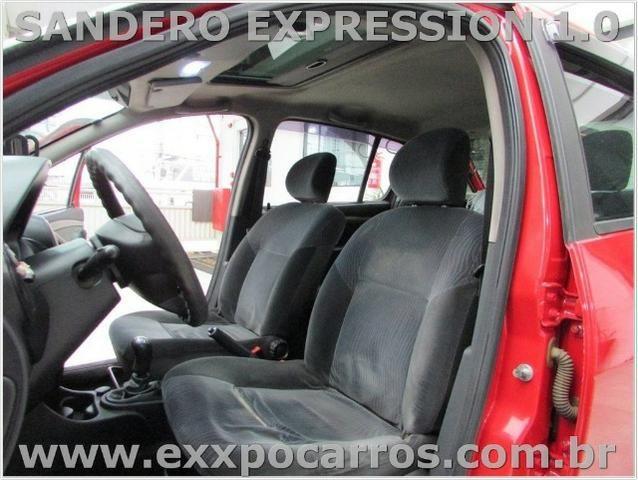 Renault Sandero Expression 1.0 Flex - Ano 2010 - Teto Solar - Bem Conservado - Foto 5