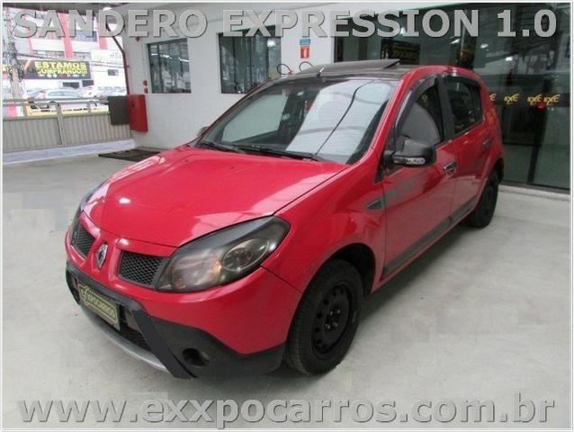 Renault Sandero Expression 1.0 Flex - Ano 2010 - Teto Solar - Bem Conservado - Foto 2