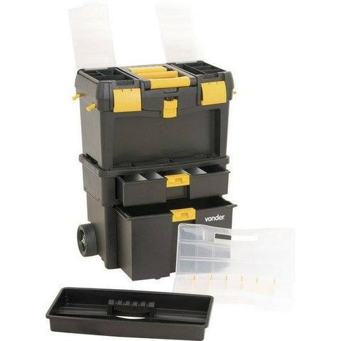 Caixa plástica com rodas CRV 0100 Vonder (NOVA) - Foto 2