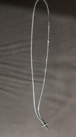 Corrente de prata 60 cm
