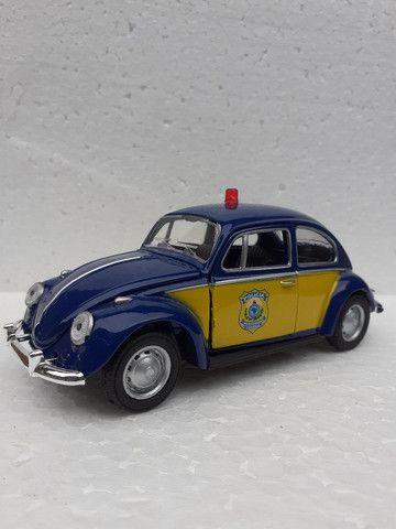 Miniatura Fusca Polícia Federal rodoviária