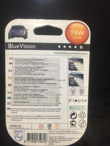 Lâmpada Philips Blue Vision T4W farolete - Foto 2