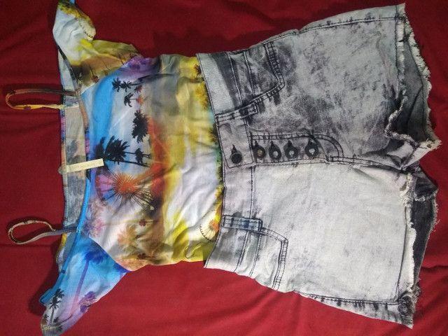 Dois Shorts Jeans com Lycra 38 por R$20 - Foto 3