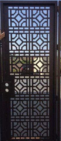 Porta Marroquina de Aço reforçada imprime a arte no metal *melhor preçoO - Foto 2