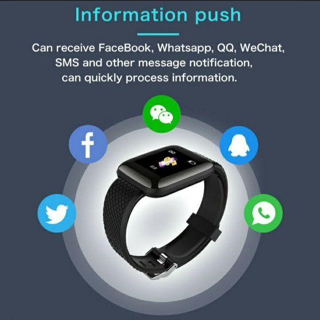 Relógio Inteligente / Smartwatch 116Plus À Prova D 'Água' Água Ip67 D13 / Batimentos - Foto 4