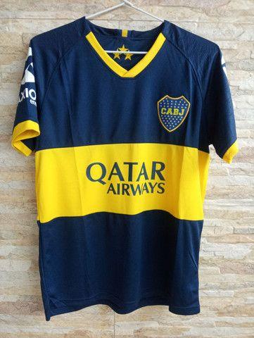 Camisa do Boca Júniors 2018/19 Thailandesa com etiqueta.
