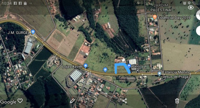 Aluga área frente para rodovia