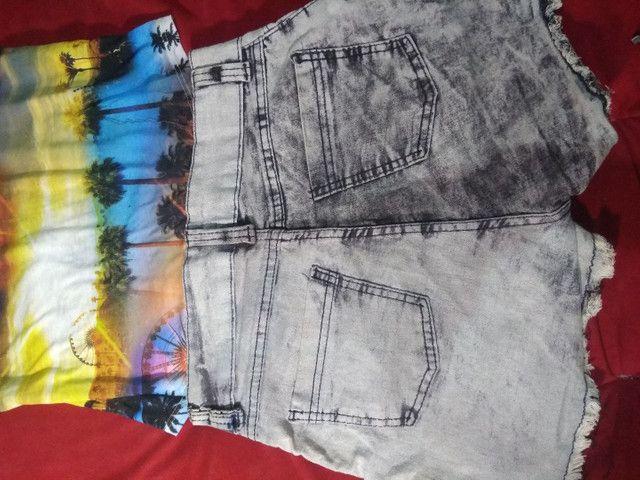 Dois Shorts Jeans com Lycra 38 por R$20 - Foto 4