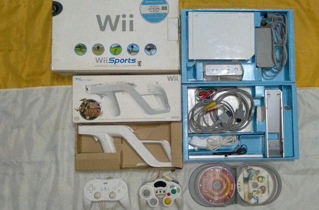 Nintendo Wii completo com arma e jogos originais  - Foto 3
