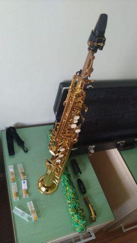 Sax Soprano Reto Eagle Super leve de tocar, excelente instrumento SP502 - Foto 5