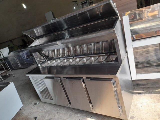 Condimentadora Refrigerada balcão Inox sob medida  - Foto 3