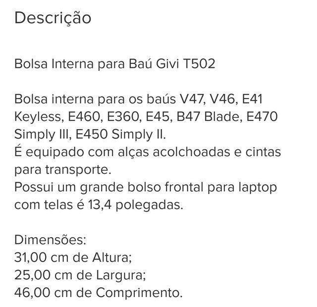 Bolsa interna Givi T502 - Foto 5