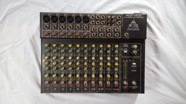 Mesa de som 14 canais com Phantom Power