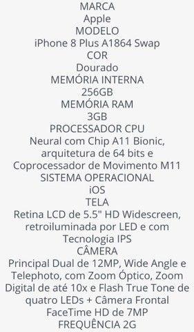Apple iPhone 8 Plus Dourado(novo) não troco  - Foto 4