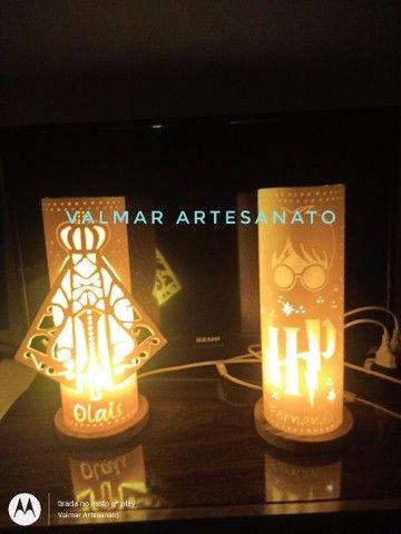 Abajures ( luminárias ) em pvc  - Foto 4