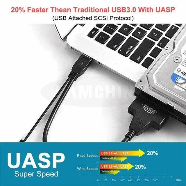 """Adaptador Case Hd Ssd 2,5""""e 3,5"""" Sata 3 USB 3.0, Até 12x no cartão - Foto 4"""