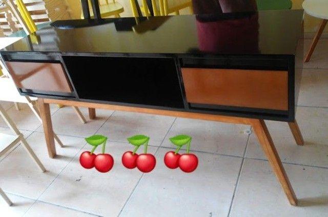 Rack aparador 1.20x70 estilo retrô SOB ENCOMENDA EM MDF LAQUEADO - Foto 3