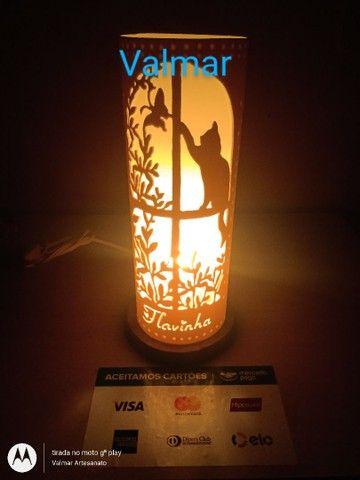 Abajures ( luminárias ) em pvc  - Foto 3