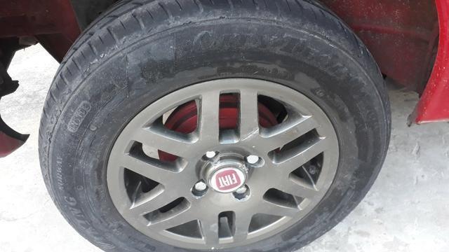 Aro 13 com pneu meia vida fiat-vw-gm 98714-9873