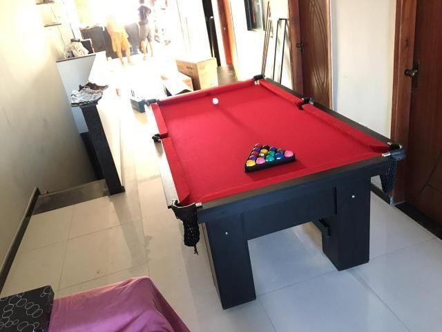 Mesa de Bilhar Tecido Vermelho TX Cor Preto Modelo JTU6321 - Foto 6