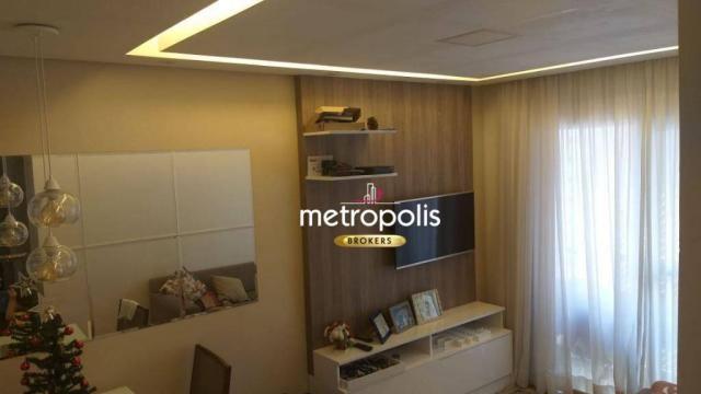 Apartamento com 2 dormitórios à venda, 60 m² por r$ 362.000 - santo antônio - são caetano