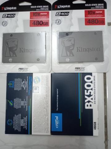 SSD 480gb kinkiston ou crucial