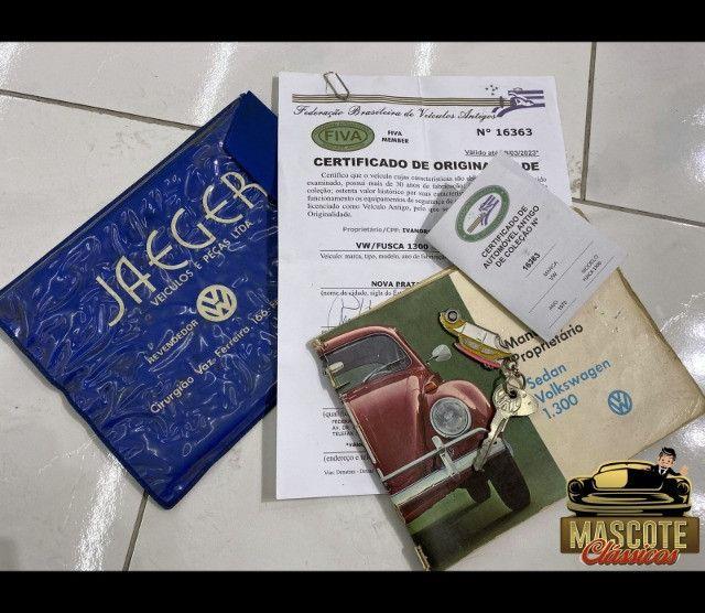 Fusca 1300 1970 *top*apenas 55.000kms*placa preta*financio direto - Foto 4
