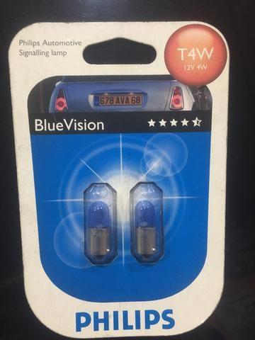 Lâmpada Philips Blue Vision T4W farolete