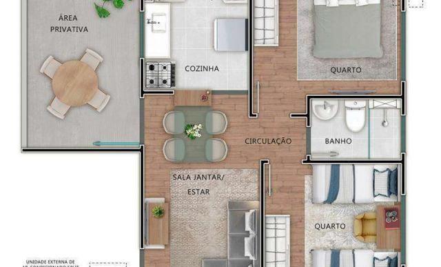Residencial Mirante dos Pássaros - Apartamento de 2 quartos em Itaquaquecetuba, SP - ID393 - Foto 8