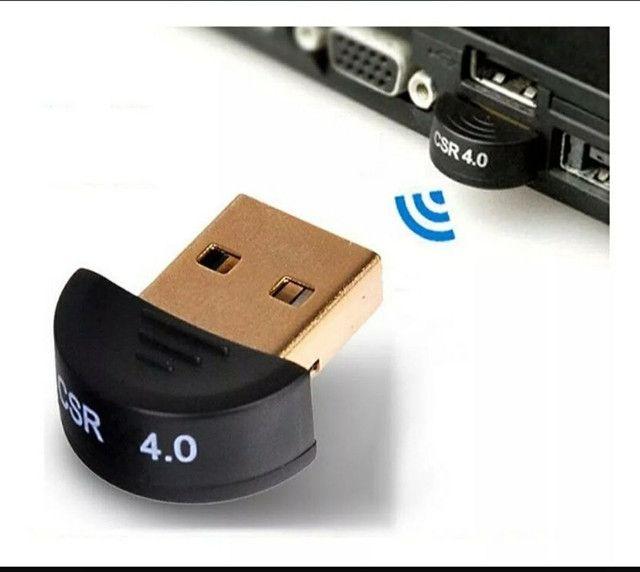 Adaptador Bluetooth 4.0 Para Pc Ou Note - Windows 7 8 10 Usb - Foto 2