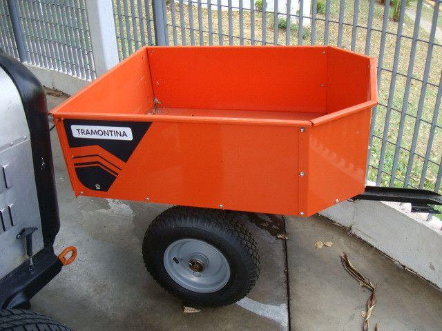 Triturador de resíduos orgânico Trapp TR 200 e Carreta Agrícola Tramontina 72x94 cm - Foto 4