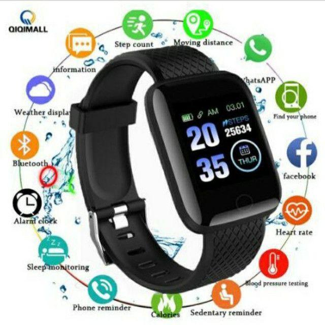 Relógio Inteligente / Smartwatch 116Plus À Prova D 'Água' Água Ip67 D13 / Batimentos