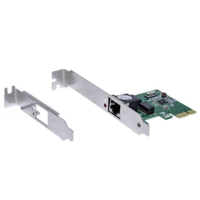 Placa De Rede 10/100/1000Mbps / PCI Express / Gigabit - Novo - Foto 3