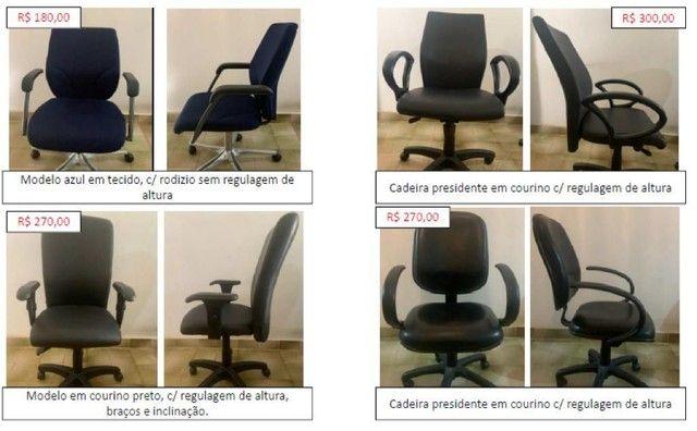 Cadeira de escritório com ou sem regulagem - Foto 2