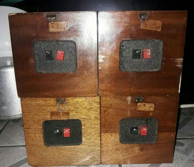 vendo 4 caixas quasar qc 404  - Foto 2