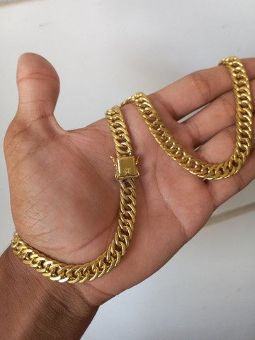 Correntes e Pulseiras De moeda antiga bruta Não descaca Não Marea e nem perde a cor - Foto 2